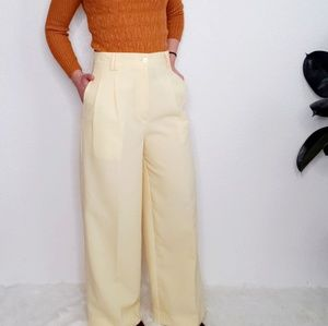 Vintage Yellow High Rise Wide Leg Trouser Pant 145